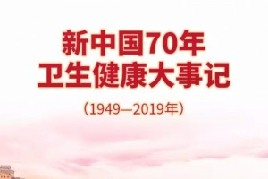 图解新中国70年卫生健康大事记